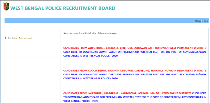 WB-Police-Constable-2021-Admit-Card
